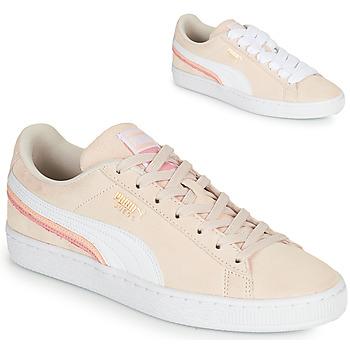 Skor Dam Sneakers Puma SUEDE TRIPLEX Rosa / Vit