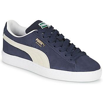 Skor Barn Sneakers Puma SUEDE JR Blå / Vit