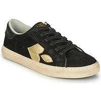 Skor Dam Sneakers Le Temps des Cerises AUSTIN Svart / Guldfärgad