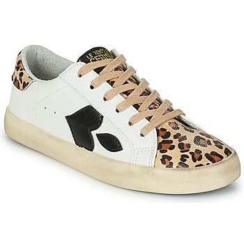 Skor Dam Sneakers Le Temps des Cerises AUSTIN Vit / Leopard