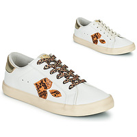 Skor Dam Sneakers Le Temps des Cerises AUSTIN Vit / Guldfärgad