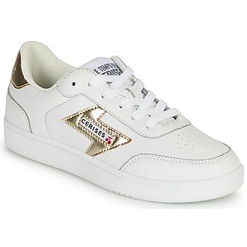 Skor Dam Sneakers Le Temps des Cerises FLASH Vit / Guldfärgad