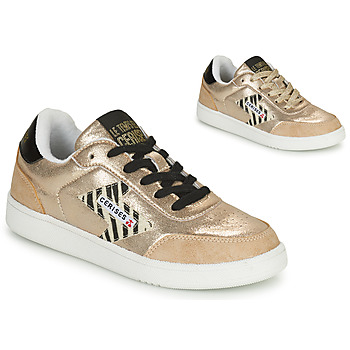 Skor Dam Sneakers Le Temps des Cerises FLASH Guldfärgad