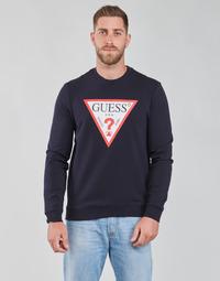 textil Herr Sweatshirts Guess AUDLEY CN FLEECE Marin