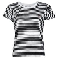 textil Dam T-shirts Guess ES SS GUESS LOGO BABY TEE Svart / Vit