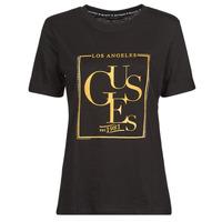 textil Dam T-shirts Guess SS CN SIMONNE TEE Svart
