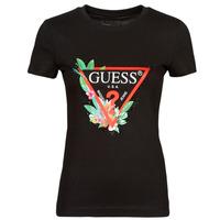 textil Dam T-shirts Guess SS CN NORA TEE Svart