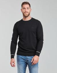 textil Herr Tröjor Guess KEVIN LS CN SLIM FIT SWTR Svart