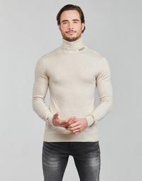 textil Herr Tröjor Guess LANE BASIC TURTLE NECK Vit