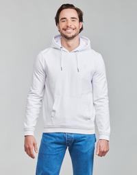 textil Herr Sweatshirts Guess CHRISTIAN HOODIE FLEECE Vit
