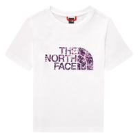textil Flickor T-shirts The North Face EASY BOY TEE Vit