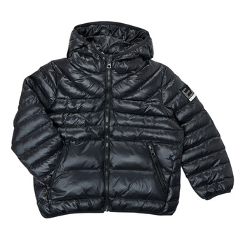 textil Pojkar Täckjackor Emporio Armani EA7 FHALIA Svart