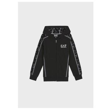 textil Pojkar Sweatshirts Emporio Armani EA7 MANTHA Svart
