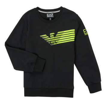 textil Pojkar Sweatshirts Emporio Armani EA7 SOLIR Svart