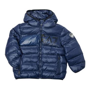 textil Pojkar Täckjackor Emporio Armani EA7 TREDA Marin