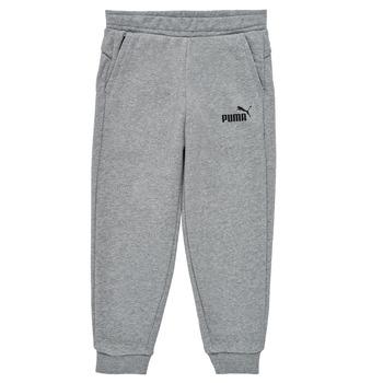 textil Pojkar Joggingbyxor Puma ESSENTIAL SLIM PANT Grå