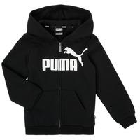 textil Pojkar Sweatshirts Puma ESSENTIAL BIG LOGO FZ HOODIE Svart