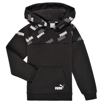 textil Pojkar Sweatshirts Puma PUMA POWER AOP HOODIE Svart