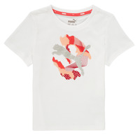 textil Flickor T-shirts Puma ALPHA TEE Vit