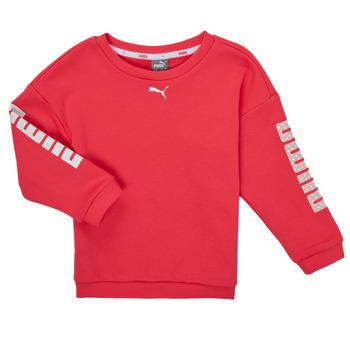 textil Flickor Sweatshirts Puma ALPHA CREW SWEAT Rosa