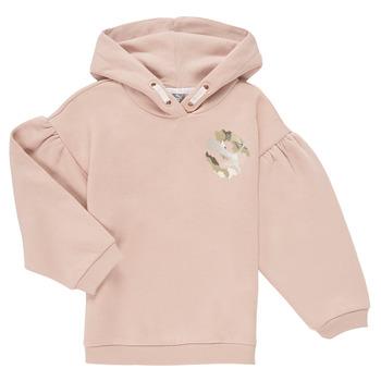 textil Flickor Sweatshirts Puma ALPHA HOODIE Rosa