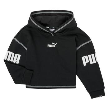 textil Flickor Sweatshirts Puma PUMA POWER HOODIE Svart
