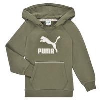 textil Pojkar Sweatshirts Puma T4C HOODIE Kaki