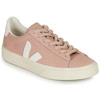 Skor Dam Sneakers Veja CAMPO Rosa / Vit