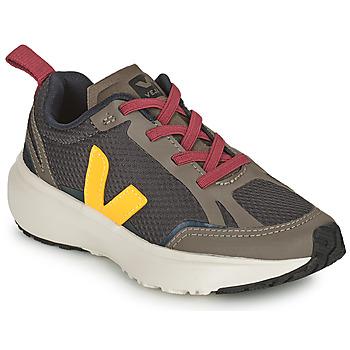 Skor Barn Sneakers Veja SMALL CANARY Grön / Gul