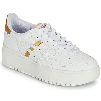 Skor Dam Sneakers Asics JAPAN PLATFORM Vit / Guldfärgad