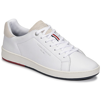 Skor Herr Sneakers Tommy Hilfiger RETRO TENNIS CUPSOLE LEATHER Vit