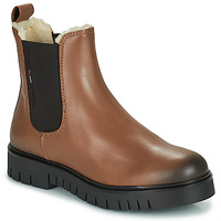 Skor Dam Boots Tommy Jeans WARMLINED CHELSEA BOOT Cognac