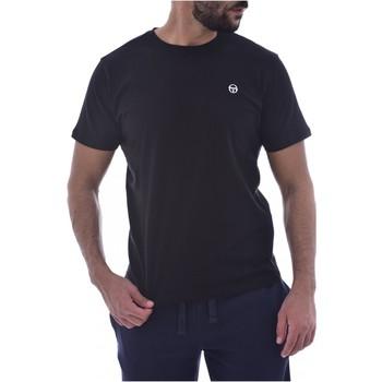 textil Herr T-shirts Sergio Tacchini 103.10007-SS T-SHIRT ICONIC Svart
