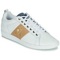 Skor Herr Sneakers Le Coq Sportif COURTCLASSIC Vit / Tan (mellanbrun)