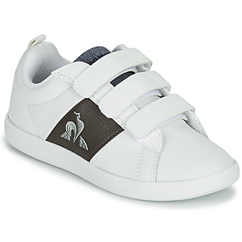 Skor Barn Sneakers Le Coq Sportif COURTCLASSIC PS Vit / Brun