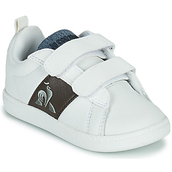 Skor Barn Sneakers Le Coq Sportif COURTCLASSIC INF Vit / Brun
