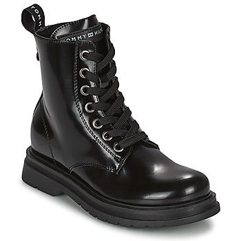 Skor Flickor Boots Tommy Hilfiger T4A5-32009-0776999 Marin