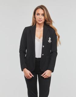 textil Dam Jackor & Kavajer Lauren Ralph Lauren ANFISA-LINED-JACKET Svart