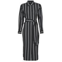 textil Dam Långklänningar Lauren Ralph Lauren RYNETTA-LONG SLEEVE-CASUAL DRESS Svart