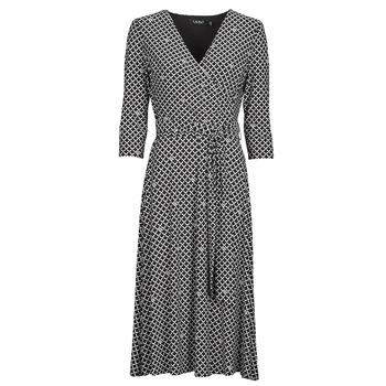 textil Dam Långklänningar Lauren Ralph Lauren CARLYNA-3/4 SLEEVE-DAY DRESS Svart