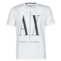 textil Herr T-shirts Armani Exchange HULO Vit