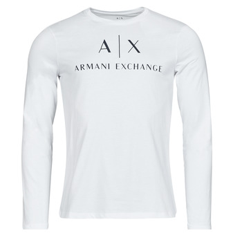textil Herr Långärmade T-shirts Armani Exchange 8NZTCH Vit