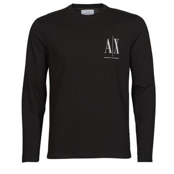 textil Herr Långärmade T-shirts Armani Exchange 8NZTPL Svart