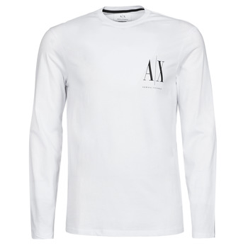 textil Herr Långärmade T-shirts Armani Exchange 8NZTPL Vit