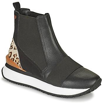 Skor Dam Höga sneakers Gioseppo LUNNER Svart / Leopard