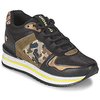 Skor Dam Sneakers Gioseppo GRAZ Svart / Kaki