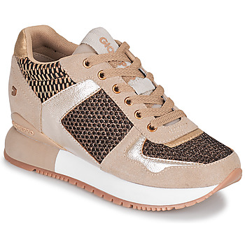 Skor Dam Sneakers Gioseppo LILESAND Beige / Guldfärgad