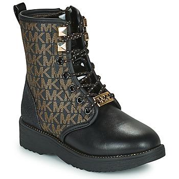 Skor Flickor Boots MICHAEL Michael Kors HASKELL Svart / Guldfärgad