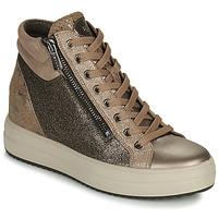 Skor Dam Höga sneakers IgI&CO DONNA SHIRLEY Beige / Guldfärgad