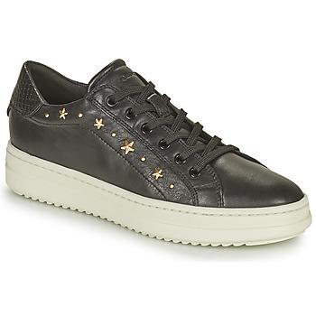 Skor Dam Sneakers Geox PONTOISE Svart / Guldfärgad